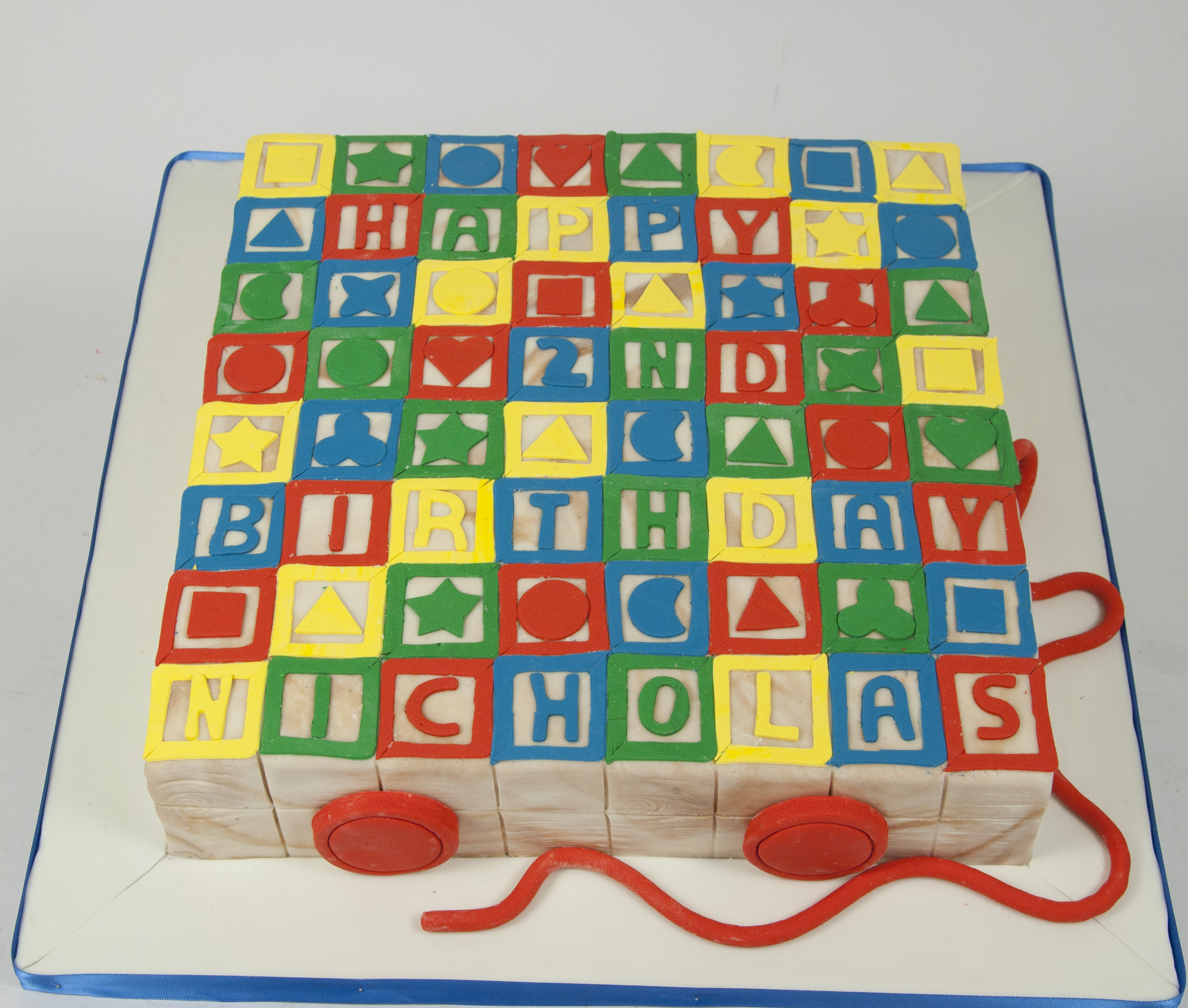 Baby shower and gender reveal cakes for the love of cake for Alphabet blocks cake decoration