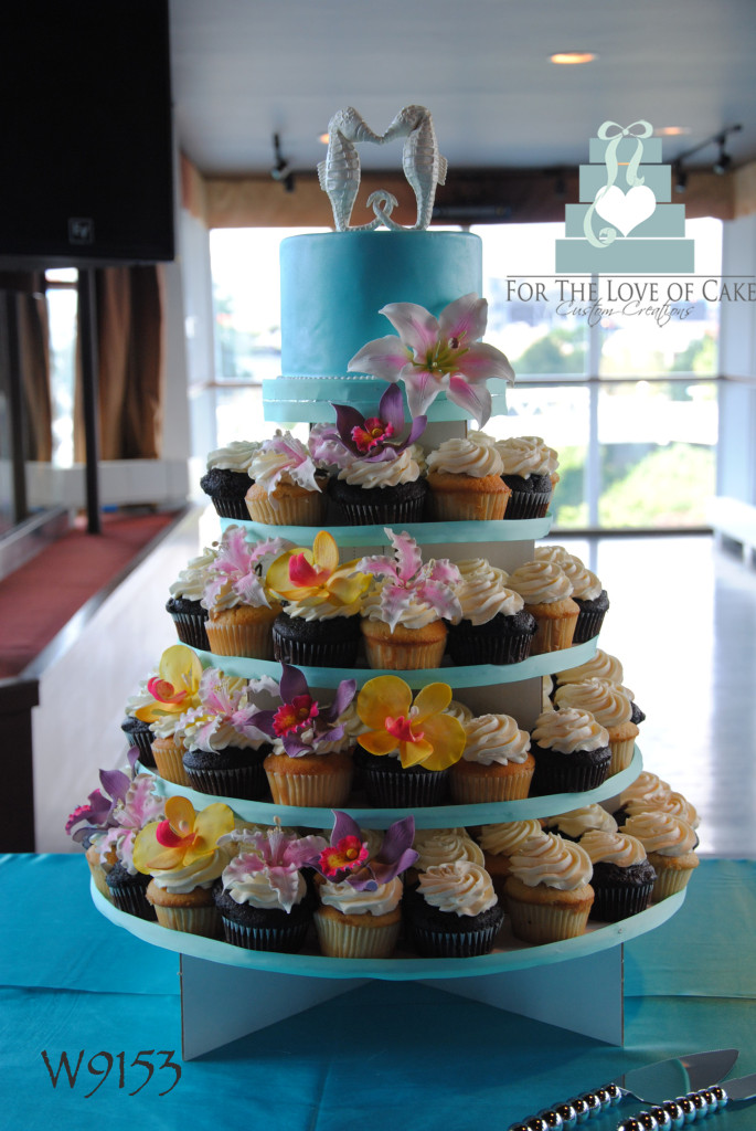 W9153-tropical-seahorse-wedding-cupcake-tower-toronto-oakville
