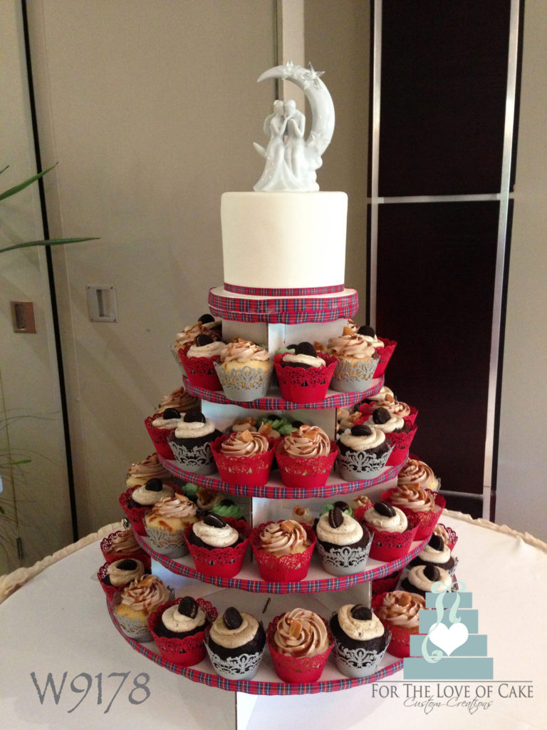 W9178-red-plaid-wedding-cupcake-tower-toronto