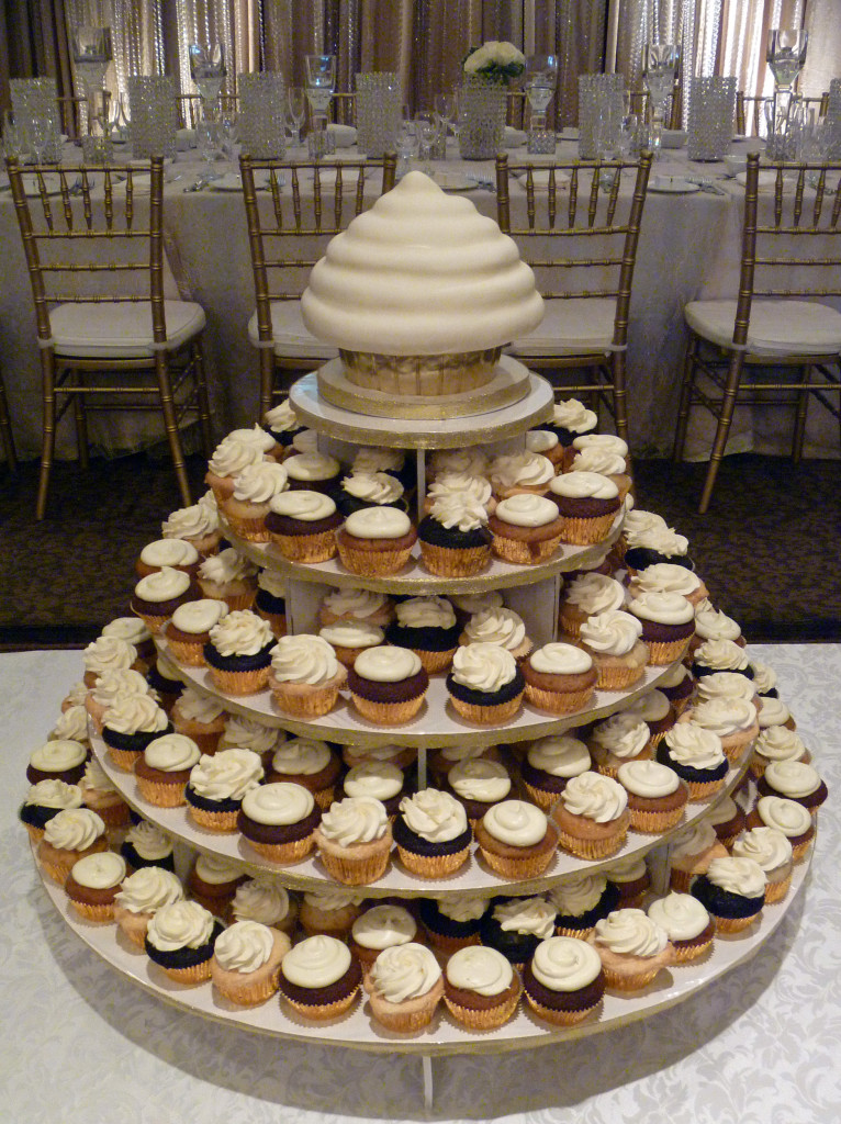 white-gold-cupcake-tower