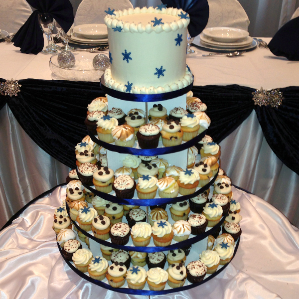 5 Tier Medium Cupcake Stand Square For The