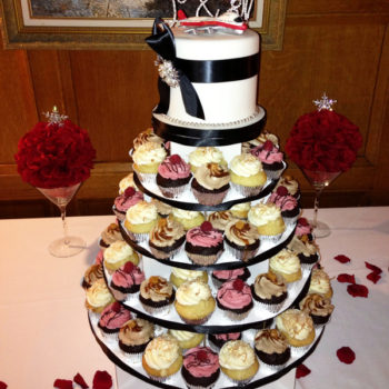 5-Tier Medium Cupcake Stand Square